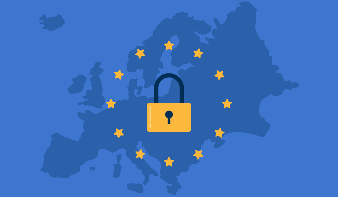 gdpr security symbol over europe