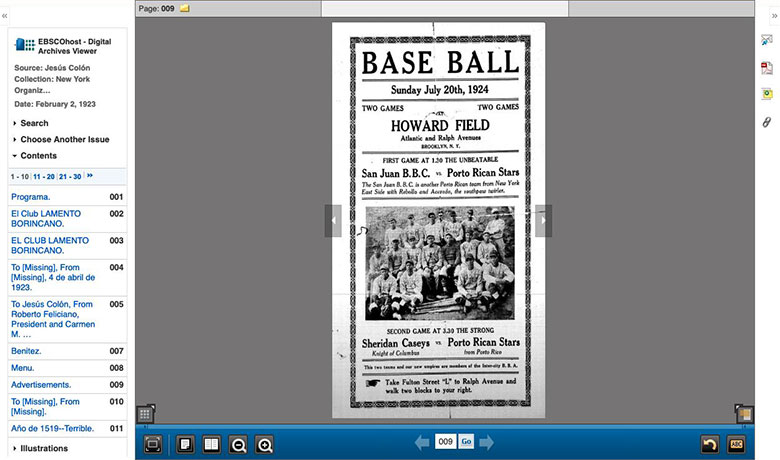 Baseball Game Flyer, 1923