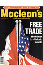 Cover: Macleans - September 1985