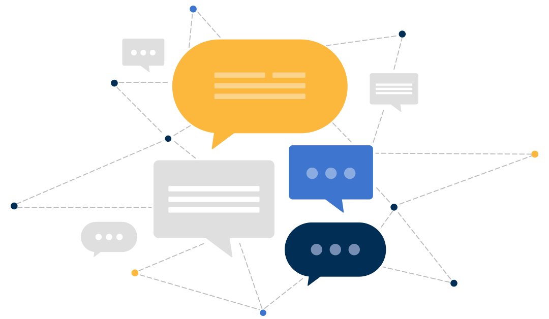open source chat bubbles and connected dots